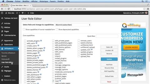 course illustration for WordPress : La gestion des utilisateurs