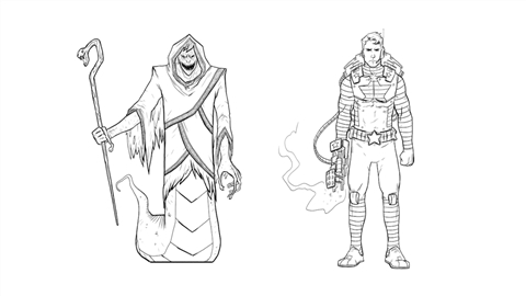 course illustration for Drawing Good and Evil Comic Book Characters
