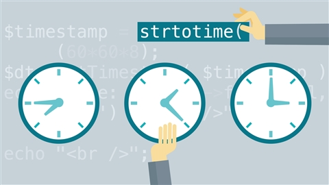 course illustration for Easy PHP Projects: Time Zone Conversion