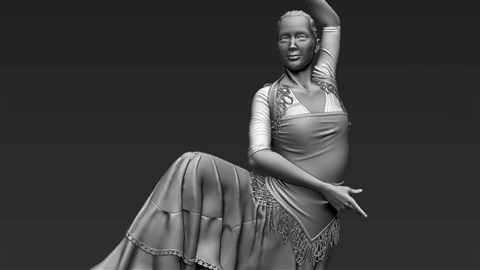 course illustration for Sculpt Cloth in ZBrush