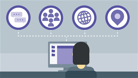 course illustration for Social Media Marketing: Managing Online Communities