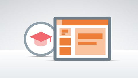 course illustration for Learn PowerPoint 2016: The Basics