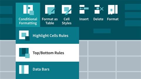 course illustration for Excel 2016: Advanced Formatting Techniques