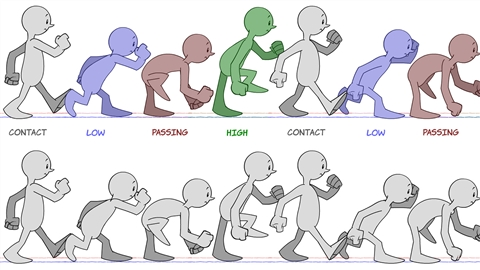 course illustration for 2D Animation: Character & Attitude Walk Cycles