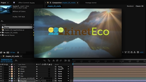 course illustration for Cinema 4D and After Effects: Logo Animation and Compositing