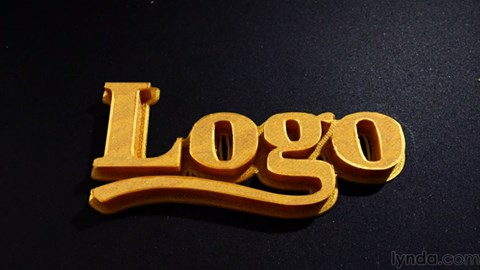 course illustration for Creating a 3D Logo in Photoshop