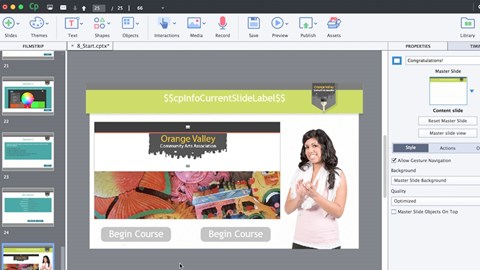 course illustration for Captivate 9 Essential Training