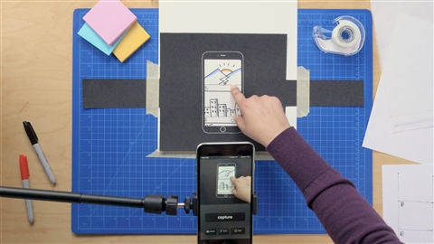 course illustration for Hands-On Mobile Prototyping for UX Designers