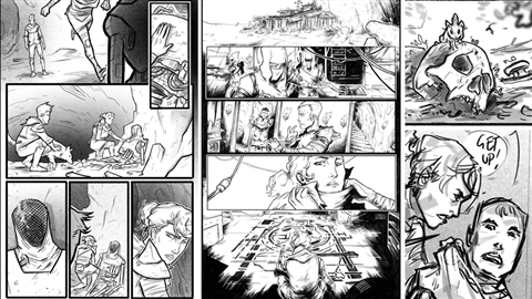 course illustration for Comic Books: Digital Inking and Refinement