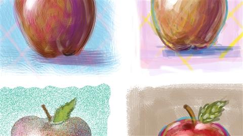 course illustration for Photoshop: Customizing Brushes
