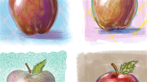 course illustration for Photoshop: Customizing Brushes