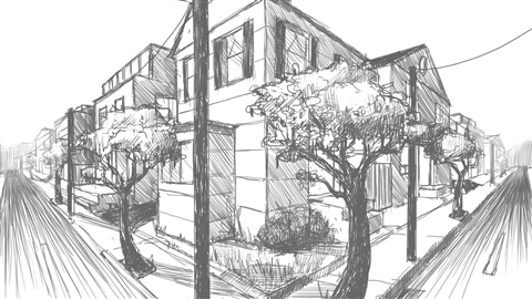 course illustration for Drawing 2-Point Perspective