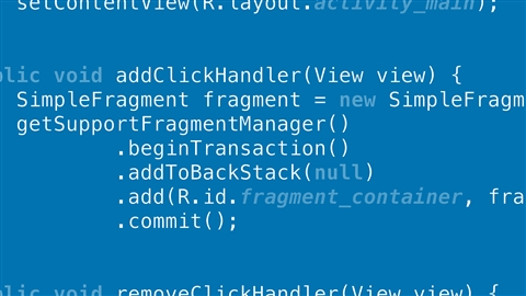course illustration for Building Flexible Android Apps with the Fragments API with Java