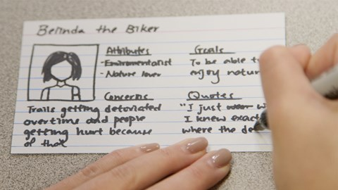 course illustration for UX Design: 3 Creating Personas