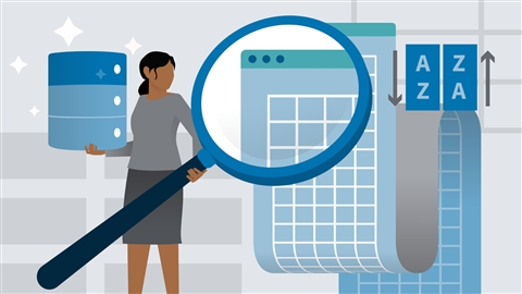 course illustration for Excel 2016: Managing and Analyzing Data