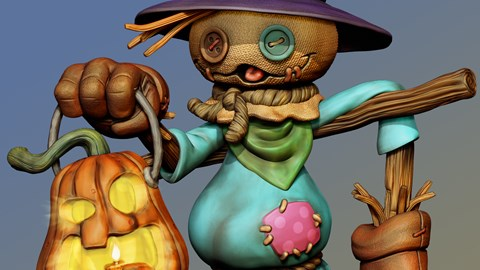 course illustration for Sculpting a Scarecrow in ZBrush