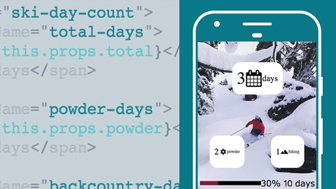 course illustration for React.js Essential Training