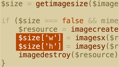 course illustration for PHP: Resizing and Watermarking Images