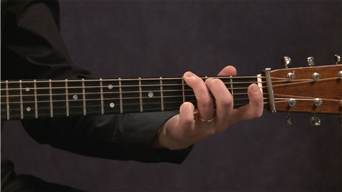 course illustration for Acoustic Guitar Lessons: 1 Picking, Fretting, & Chords