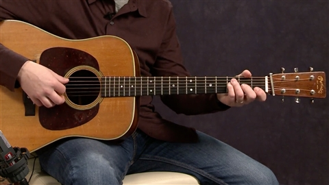 course illustration for Acoustic Guitar Lessons: 3 Rhythm & Voicings