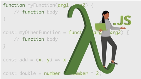 course illustration for Learning Functional Programming with JavaScript ES6+