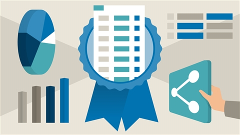 course illustration for Cert Prep: Excel Associate - Microsoft Office Specialist for Office 2019 and Office 365