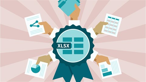 course illustration for Cert Prep: Excel 2016 Microsoft Office Specialist (77-727)