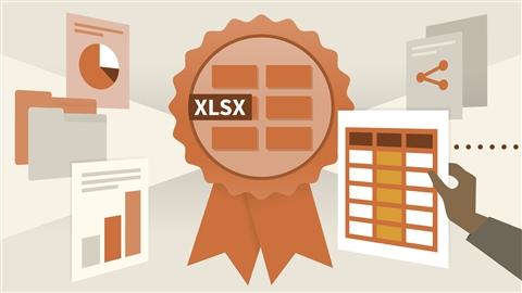 course illustration for Cert Prep: Excel 2016 Microsoft Office Expert (77-728)