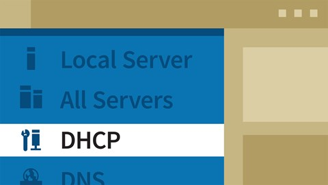 course illustration for Windows Server 2016: DHCP