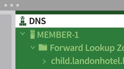 course illustration for Windows Server 2016: DNS