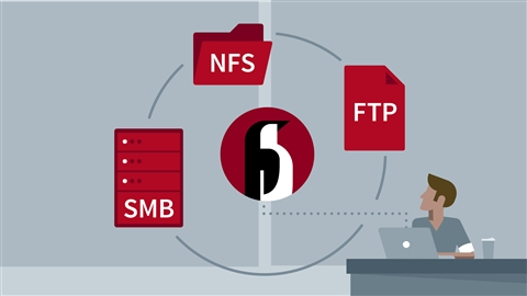 course illustration for Linux: File Sharing Services