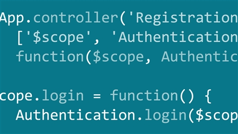 course illustration for AngularJS 1: Adding Registration to Your Application