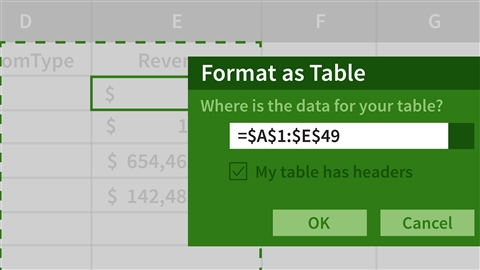 course illustration for Excel: Creating a Basic Dashboard