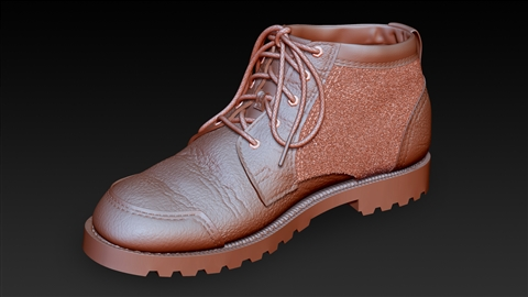 course illustration for ZBrush: Modeling Footwear