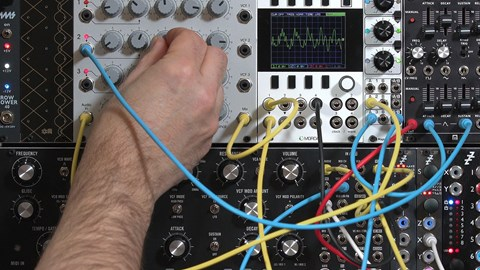 course illustration for Learning Modular Synthesis: Eurorack Expansion
