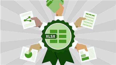 course illustration for Cert Prep: Excel 2013 Microsoft Office Expert Part One (77-427)
