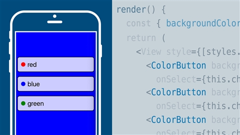 course illustration for Learning React Native (2017)