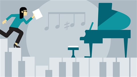 course illustration for Jazz Piano Lessons: 1 Fundamentals