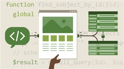 course illustration for PHP with MySQL Essential Training: 1 The Basics