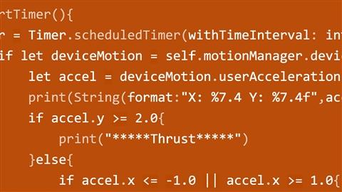 course illustration for Advanced iOS App Development: Core Motion