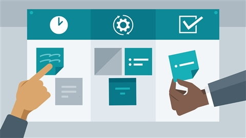 course illustration for Stay Lean with Kanban