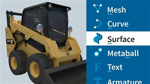 course illustration for Blender: Hard Surface Modeling