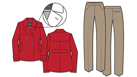 course illustration for Illustrator for Fashion Design: Drawing Flats