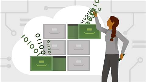 course illustration for AWS: Storage and Data Management