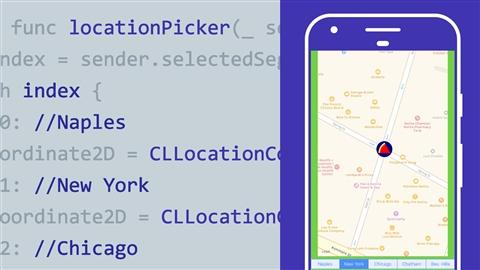 course illustration for Advanced iOS App Development: MapKit & Core Location