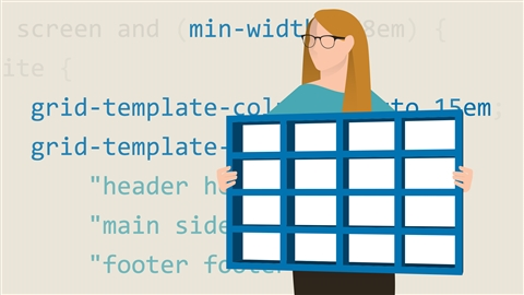 course illustration for CSS: Advanced Layouts with Grid
