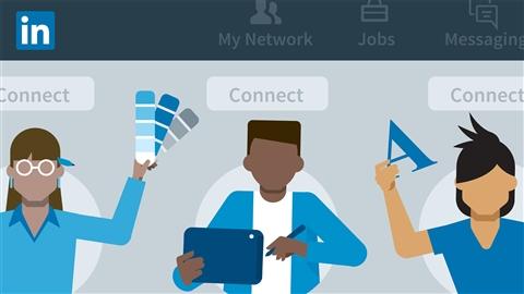 course illustration for LinkedIn for Designers