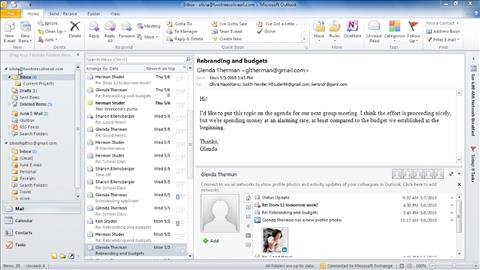 Migrating from Outlook 2003 to Outlook 2010
