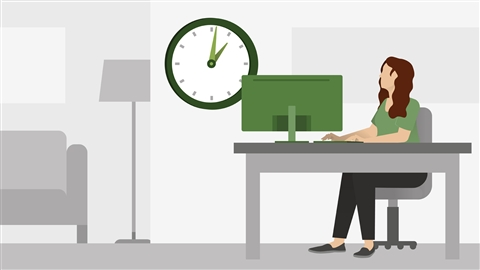 course illustration for Time Management: Working from Home