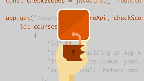 course illustration for React: Securing Applications